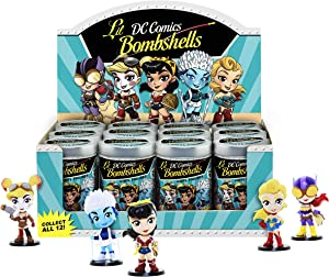 "Cryptozoic DC Comics Lil Bombshells Series 2 Vinyl Blindbox 2.5"" Individual Figure Diplay Pack - 12 Blindbox Figures Included"