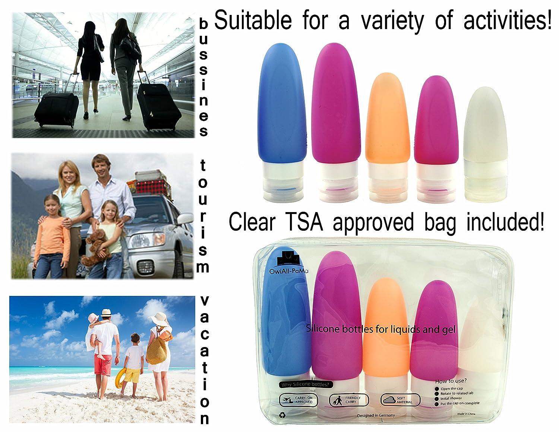 Amazon.com: Botellas de Viaje Travel Bottle Set Por owiall ...