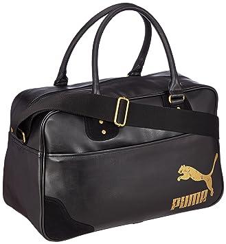 Puma Schultertasche Originals Grip Bag PU - Bolsa escolar, color negro, talla 46.5 x 29 x 20 cm: Amazon.es: Deportes y aire libre