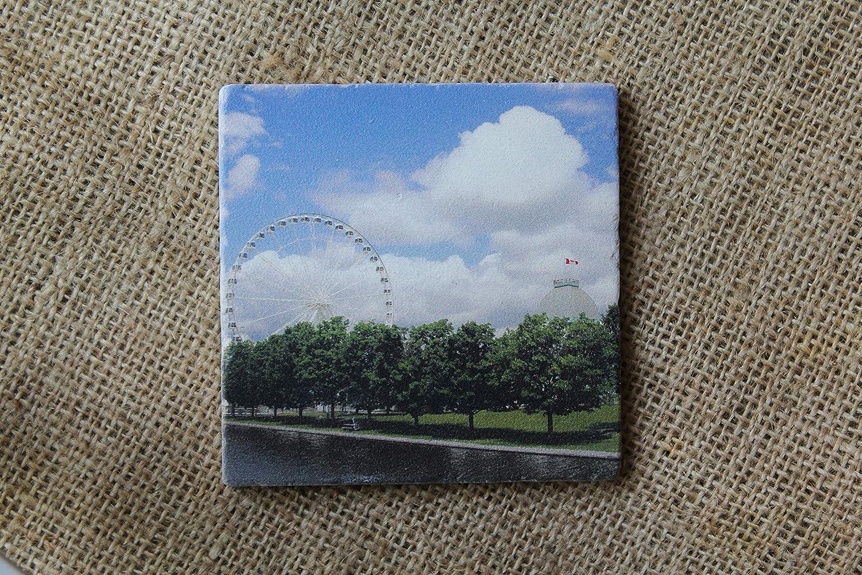 Set of 4 Drink Coasters  Coaster Set in Ferris Wheel