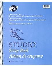 Hilroy Studio Coil Scrapbook, 14 X 11 Inches, Manila Paper, 20 Sheets (26411)