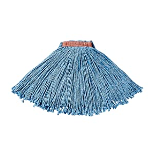 Rubbermaid Commercial Dura Pro Blend Cut End Mop, Blue, 1-Inch, FGF51600BL00