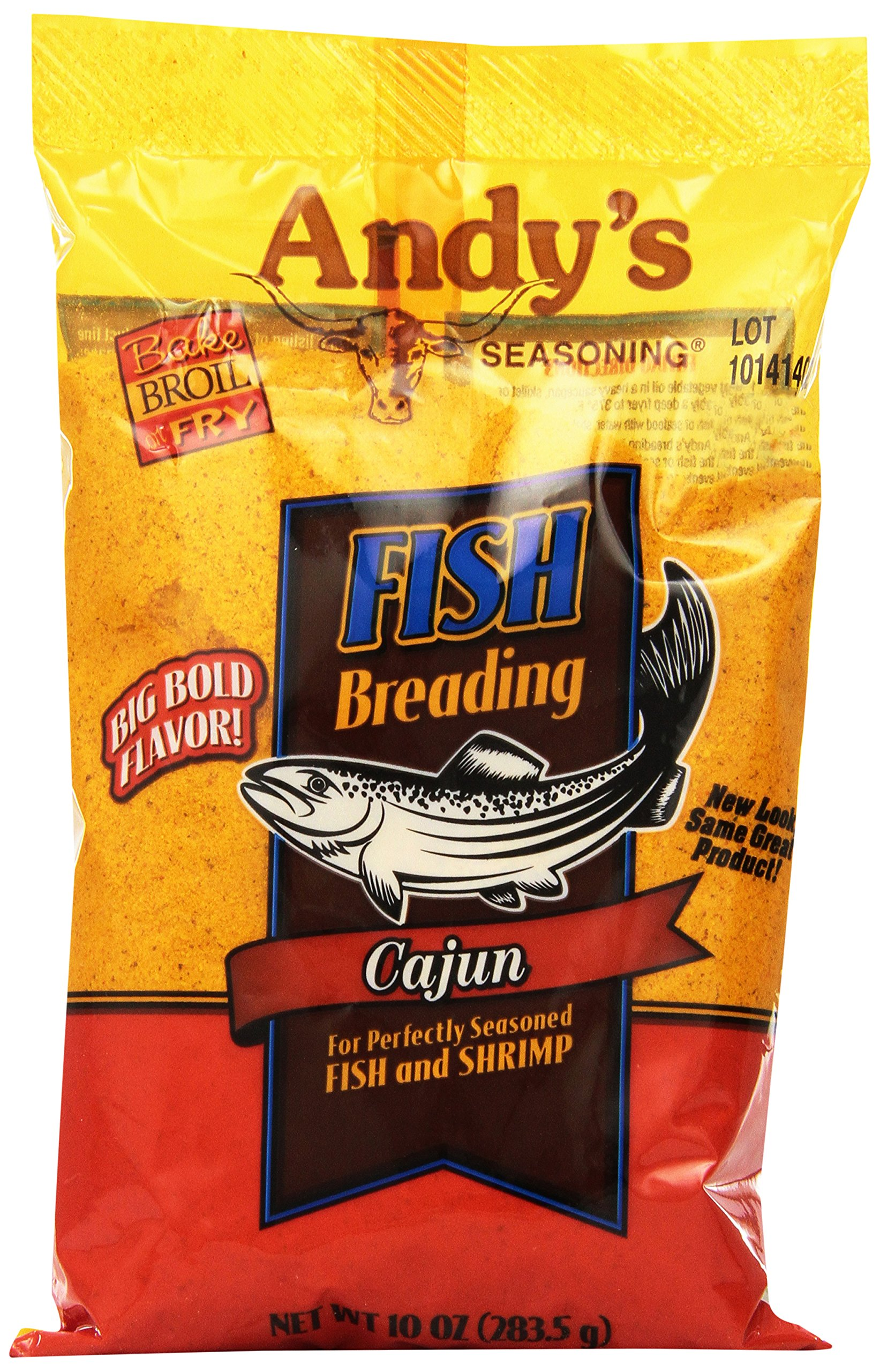 Andy's Cajun Fish Breading, 10-Ounce (Pack of 12)