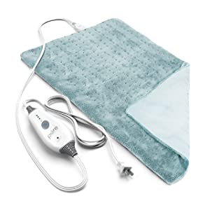 "Pure Enrichment PureRelief Deluxe Heating Pad - Fast-Heating Full Body Therapy Pad with 4 Heat Settings, Soft Machine-Washable Microplush Fabric and 2-Hour Auto Safety Shut-Off - Mauve (12"" x 24"")"