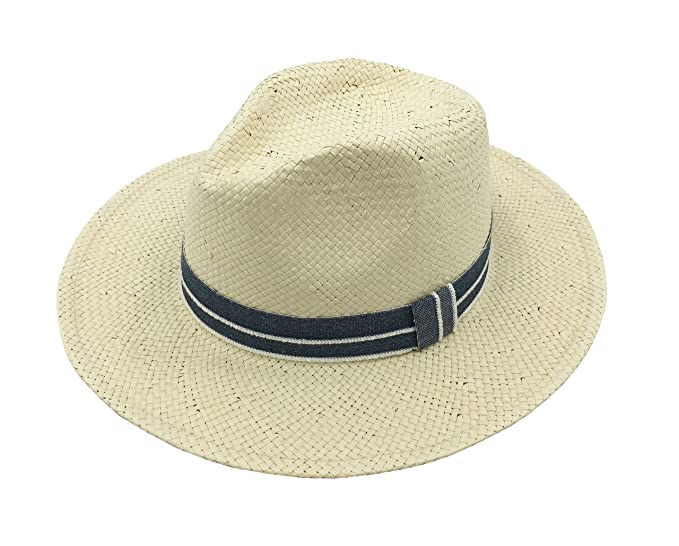 a1f1ef26cd Unisex Adjustable Wide Brim Panama Fedora Straw Hat Sun Hat at ...