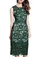 VEIISAR Women's Fashion Sleeveless Lace Elegant Cocktail Party Dress