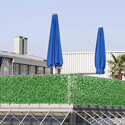 neu.haus] Siepe artificiale con foglie (100 x 300 cm) Protezione ...