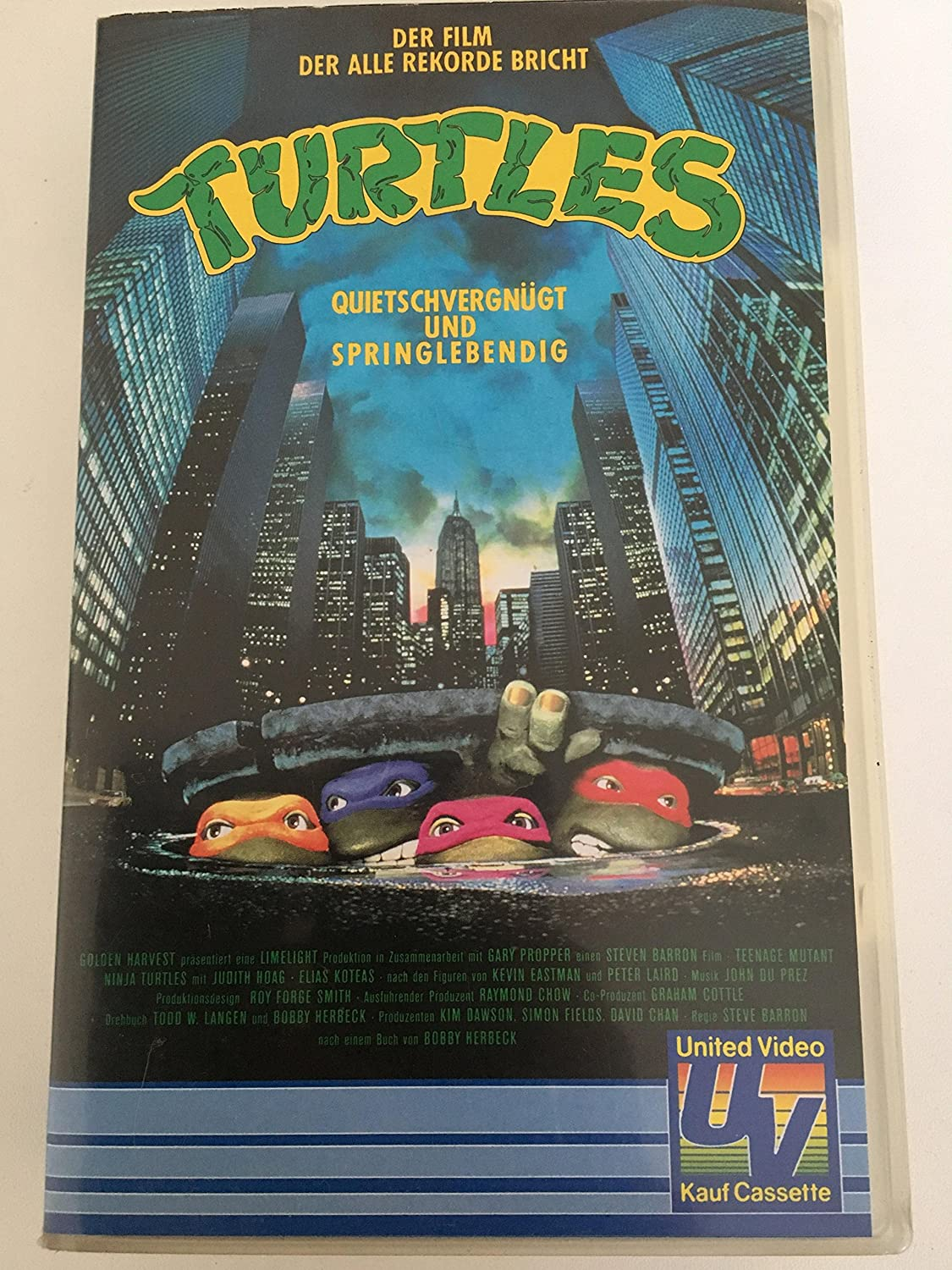 Turtles [Alemania] [VHS]: Amazon.es: Judith Hoag, Elias ...