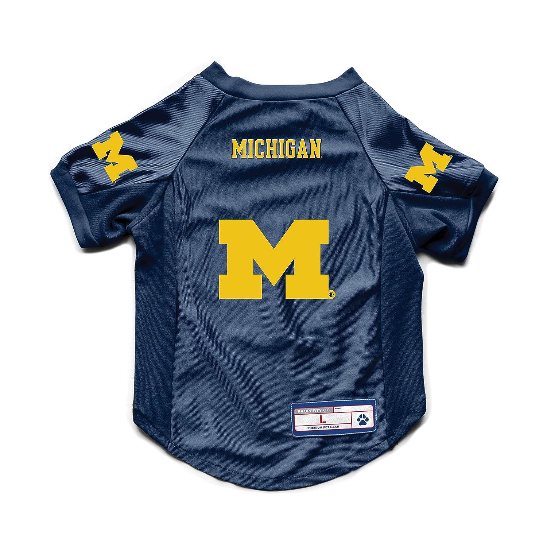 Medium Team Color Littlearth NCAA Michigan Wolverines Pet JerseyJersey Stretch