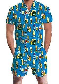 eeace6d13a7 Adicreat Men Summer Shorts 3D Printed Short Sleeve Jumpsuit One Piece Romper  Outfits