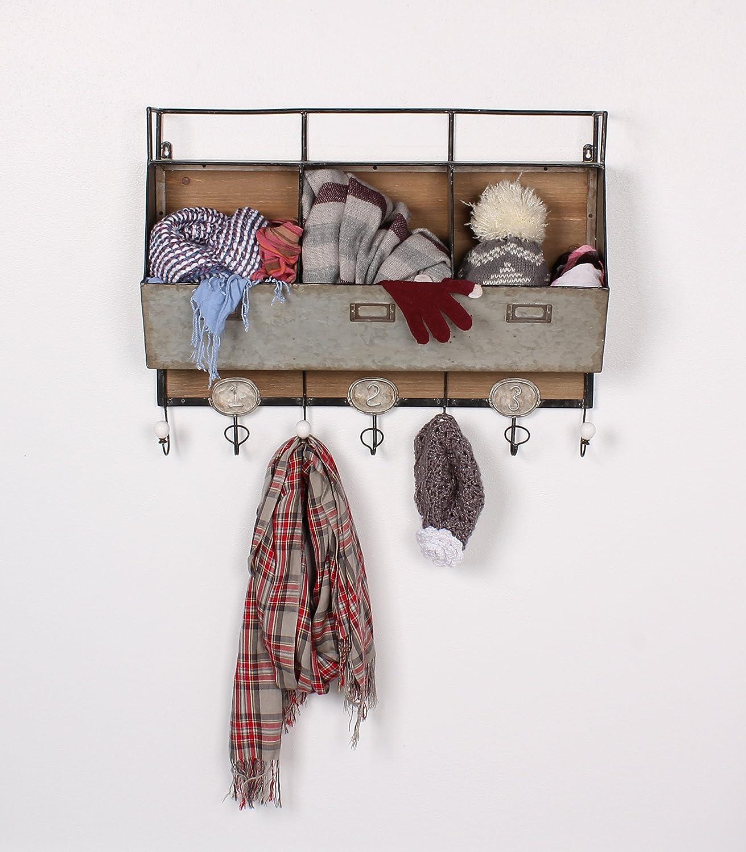 Amazon.com: Kate and Laurel Arnica Wood and Metal Wall Storage ...