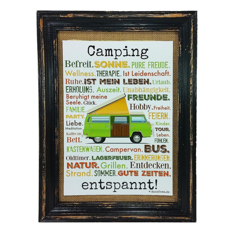 Amazon.de: Camping entspannt. Druck Poster A4 Wohnmobil Womo Camper ...