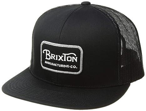 a3a70d96172 ... manufacturing co black snapback brixton mesh trucker hat cap 6a8ed2  bdf4f 01ab6  canada brixton mens grade mesh cap black grey 49d05 27385
