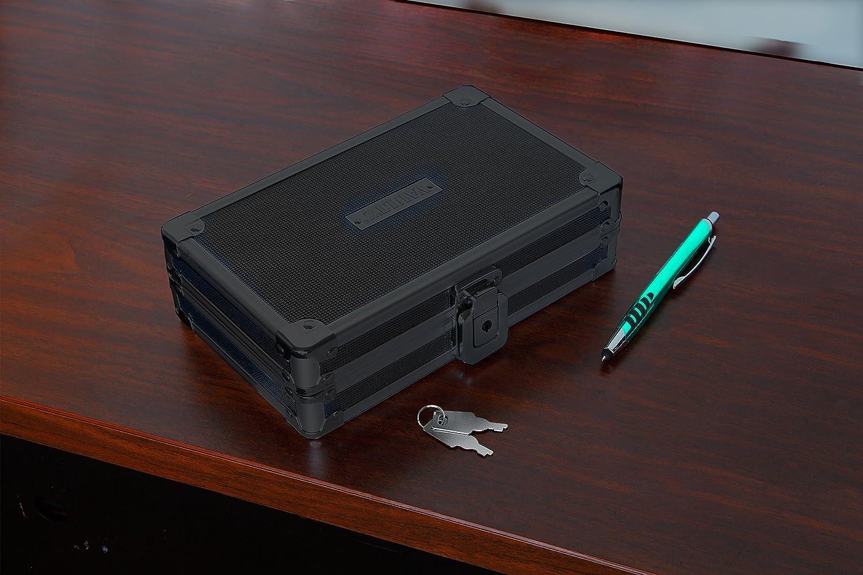 Vaultz Locking Supplies & Pencil Box with Key Lock, 5