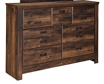 Ashley Furniture Signature Design Quinden Dresser 7 Drawer Dark Brown