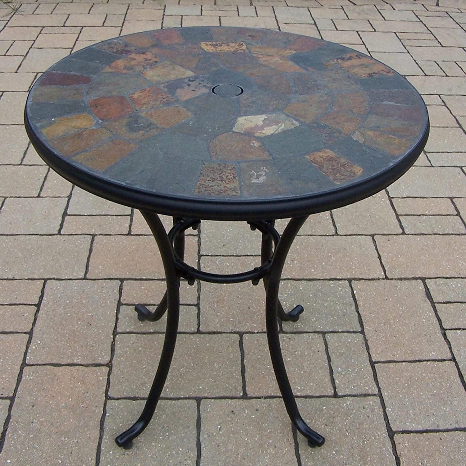 """Oakland Living Stone Art 26"""" Bistro Table with Real Formation"""