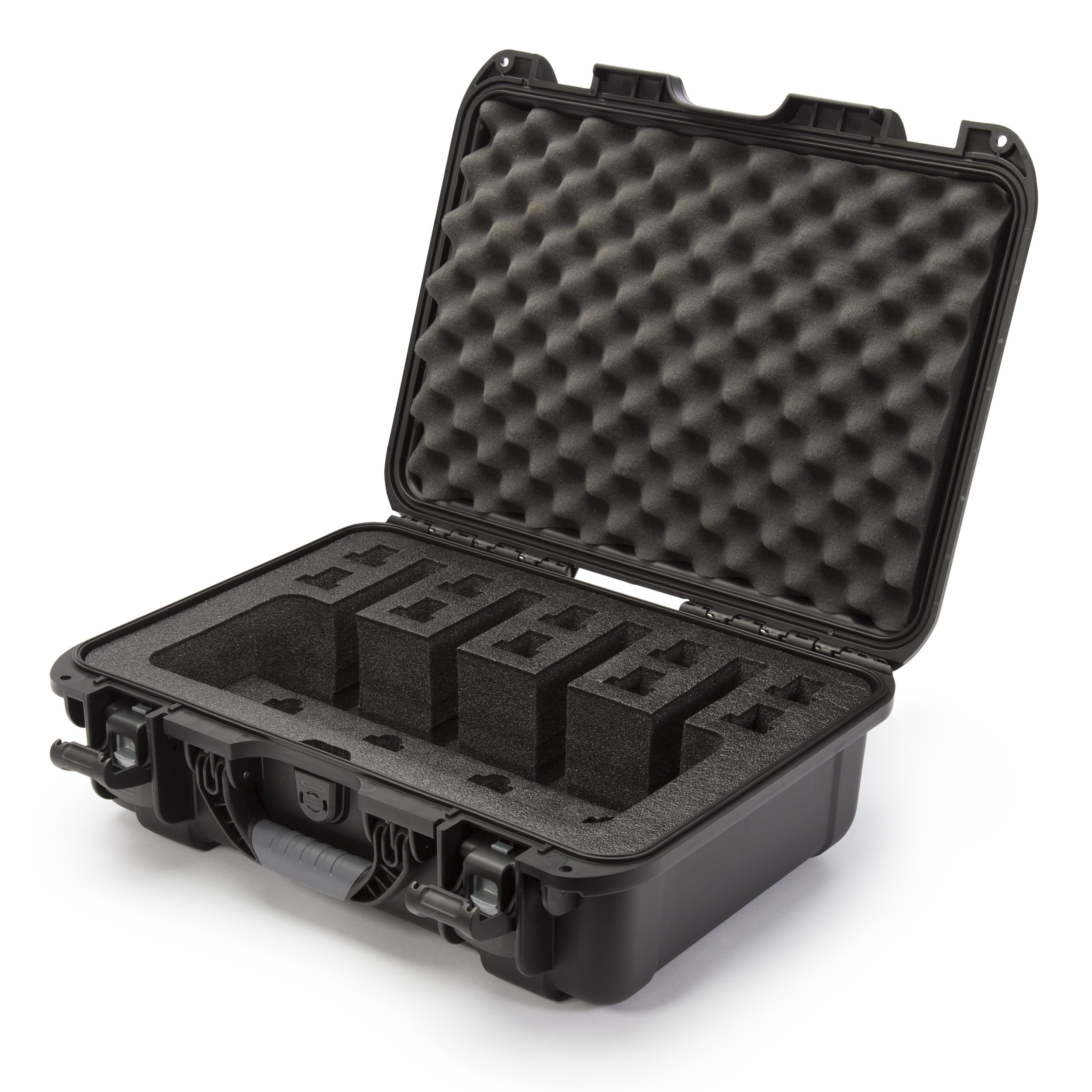 Nanuk 925 Waterproof Professional Gun Case, Military Approved with Custom Foam Insert for 4UP - Black by Nanuk