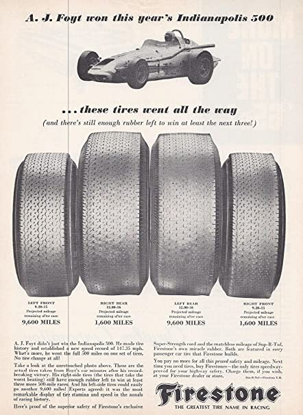 Amazon com: 1964 Vintage Print Advertisement for Firestone