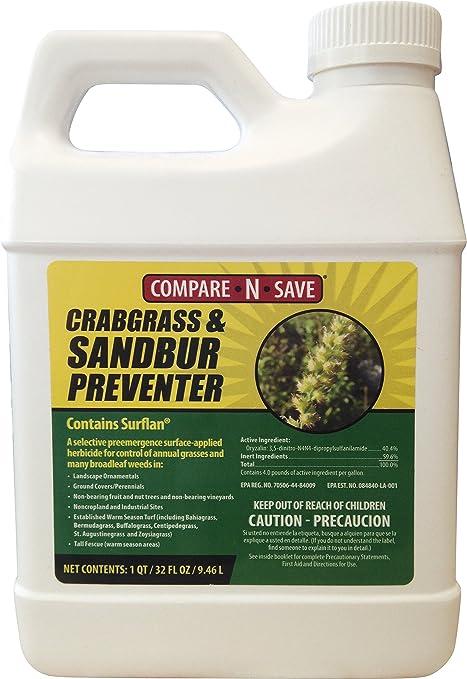 Amazon Com Compare Nsave Crabgrass And Sandbur Preventer 32 Ounce