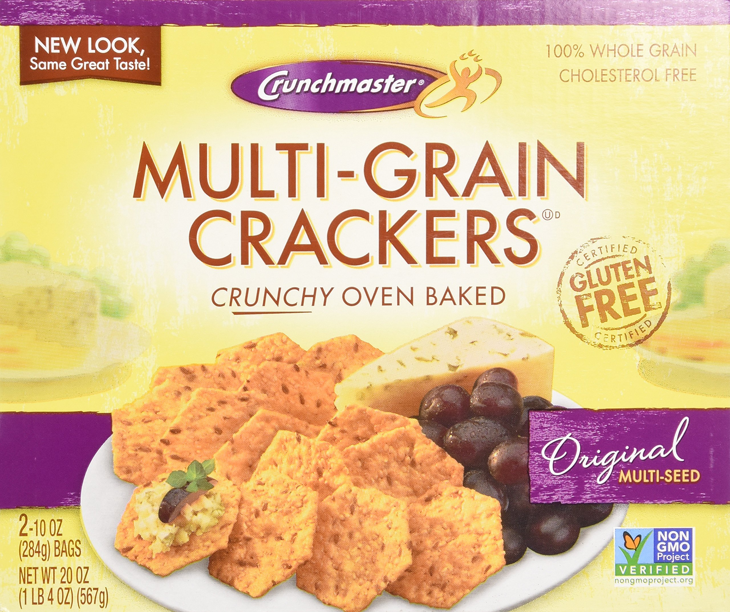 Crunchmaster Multi-Grain Crackers, Gluten Free, 20 oz. by Crunchmaster
