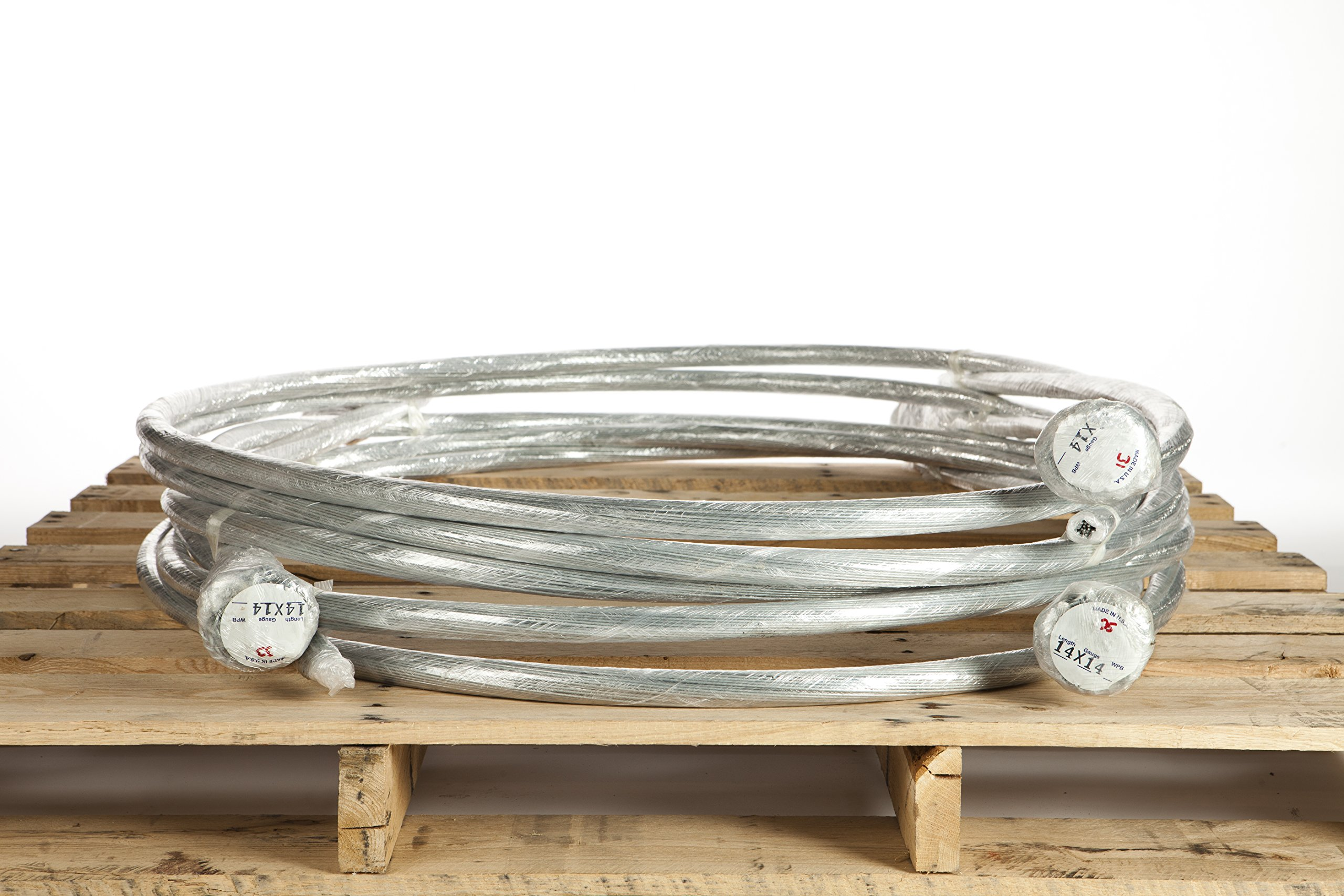 Highest Quality USA Made 14 Gauge 14FT Galvanized Single Loop Baling Wire in Bundles of 125 Pieces by Smart-Ties