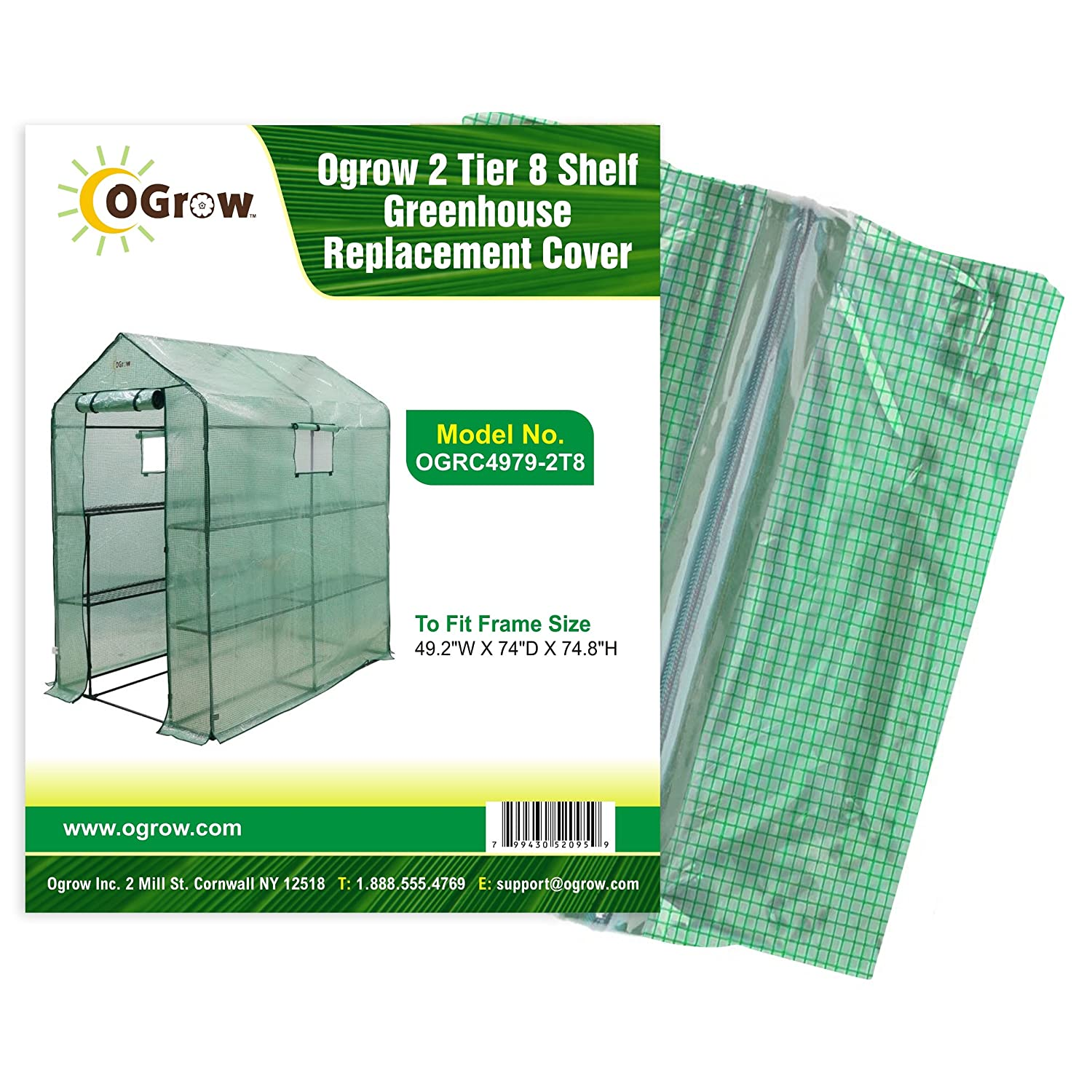 OGrow Greenhouse Replacement Cover. OGRC2719-5T