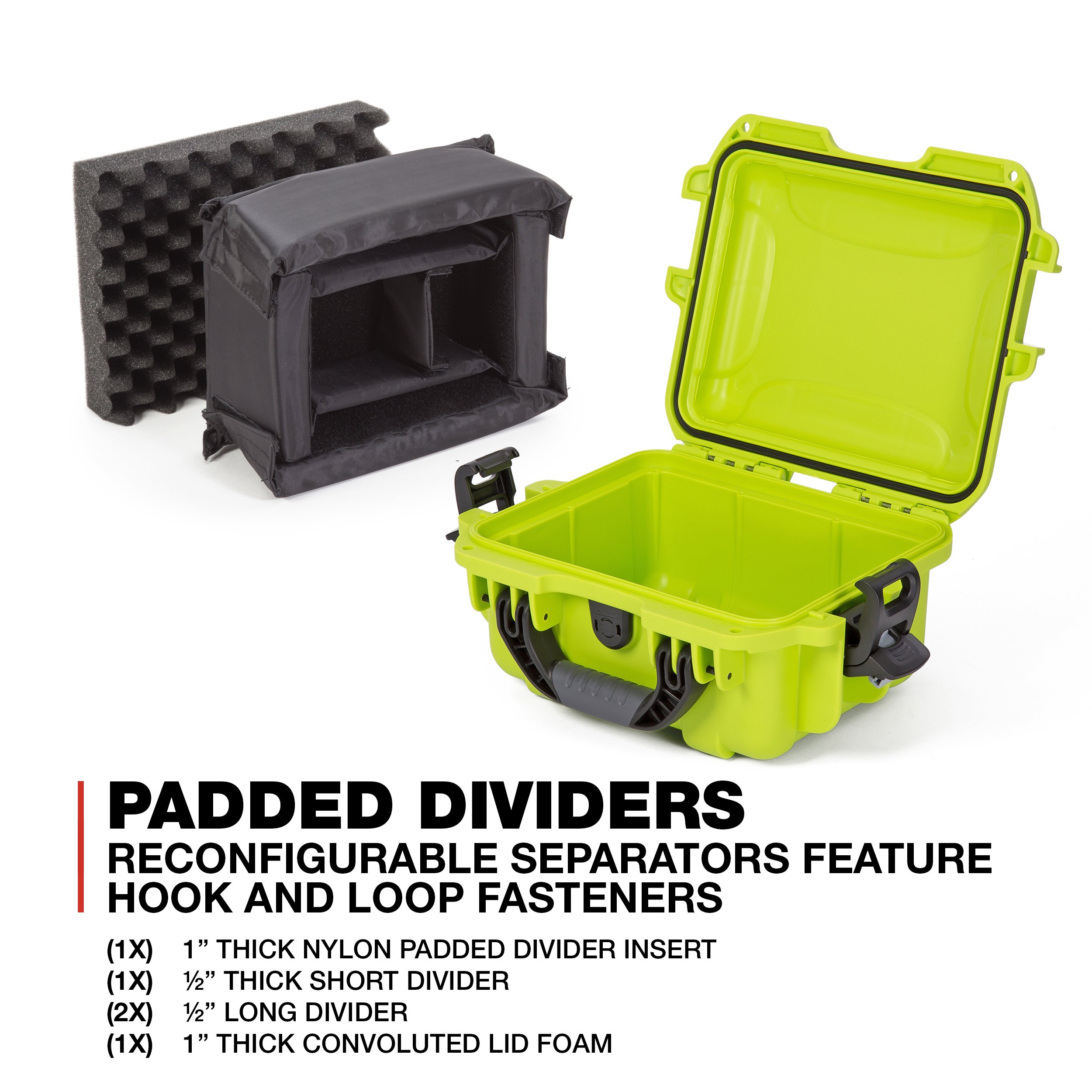 Nanuk 905 Waterproof Hard Case with Padded Dividers - Lime by Nanuk (Image #5)