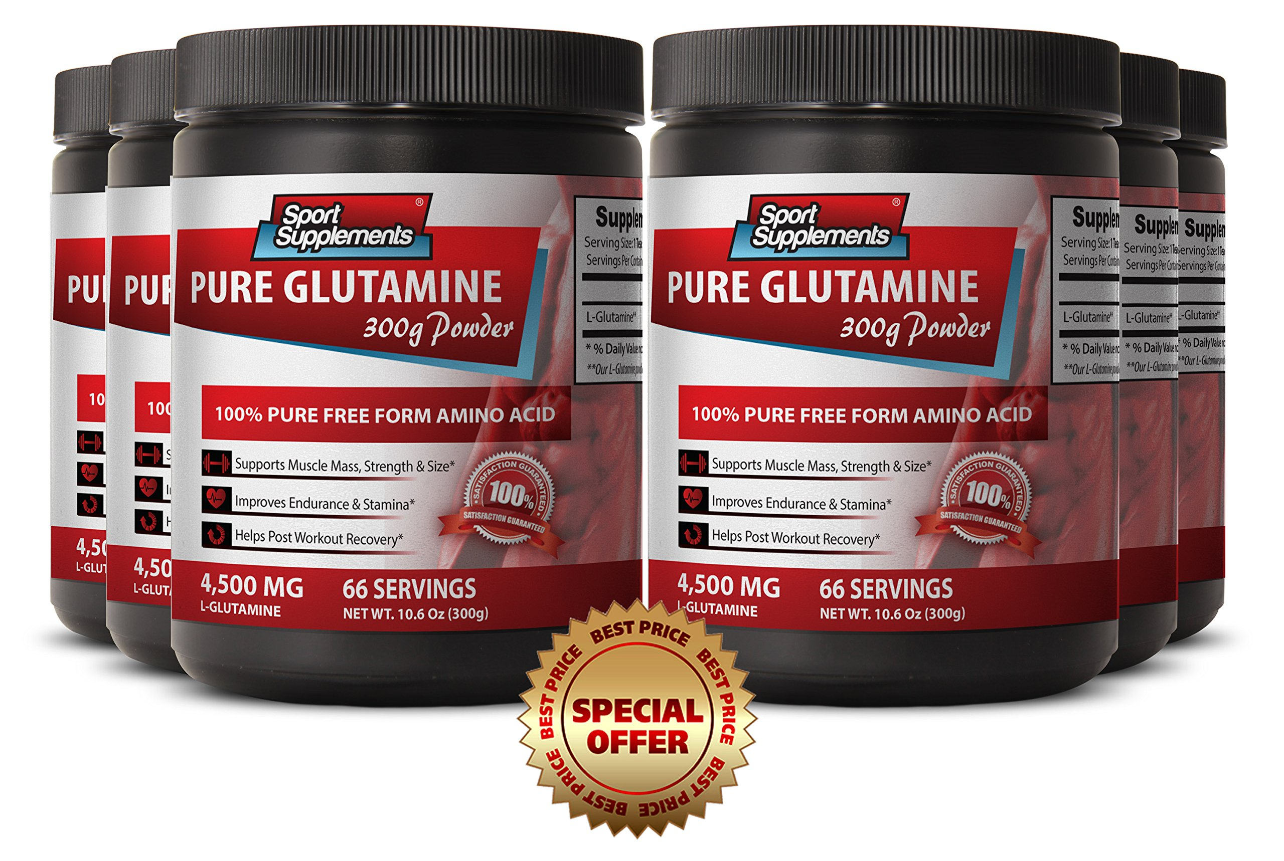 L glutamine women - L-GLUTAMINE POWDER 300g - Speeds wound healing (6 Bottles)