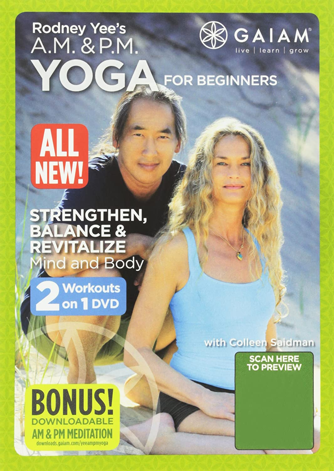 A.M./P.M. YOGA FOR BEGINNERS Rodney Yee Fit for Life 18713588180 Fitness/Self-Help