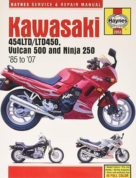 amazon com: haynes 86-07 kawasaki ex250 repair manual: john haynes:  automotive