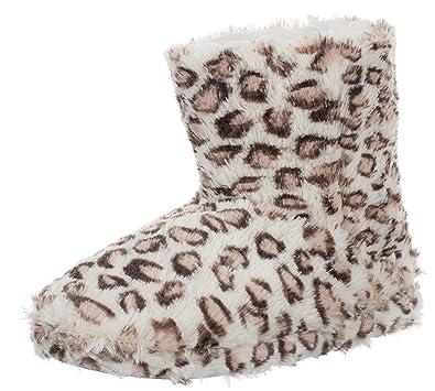 Damen Hausschuh Pantoffeln Flausch - weich und kuschelig mit rutschfester Sohle Tier-Design zwei Tiermotive