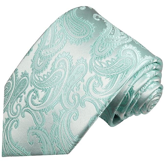 chaussures élégantes nouvelle collection ordre Cravate vert menthe motif cachemire 100% soie: Amazon.fr ...