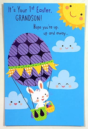 Amazon easter cards grandsons first its your 1st easter easter cards grandsons first its your 1st easter grandson american greetings ea m4hsunfo
