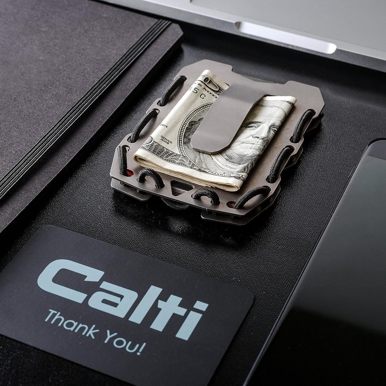 Amazon.com: Tactical titanio EDC portafolios Minimalista ...