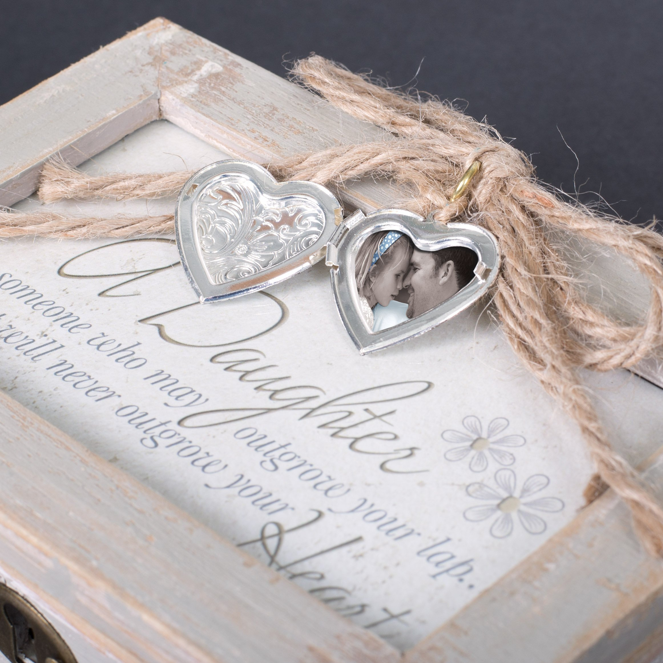 Mom Grateful for Love Distressed Wood Locket Jewelry Music Box Plays Tune Wind Beneath My Wings by Cottage Garden (Image #4)