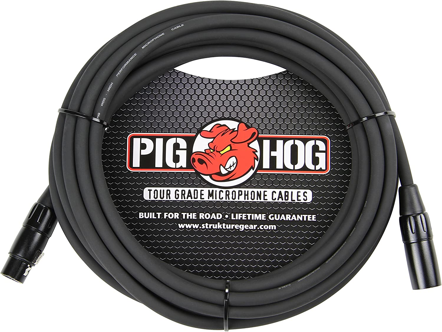 4-Pack Pig Hog 15ft TRS Male to XLR Male Balanced Cable