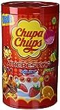 Chupa Chups - Caja de 100 caramelos, surtido: sabores aleatorios (Cola, fresa-nata, sandía, fresa, naranja, limón y cereza)