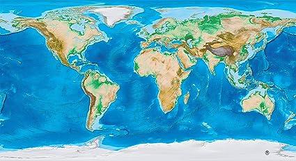 Amazon.com : Academia Maps - Topography & Bathymetry World ...