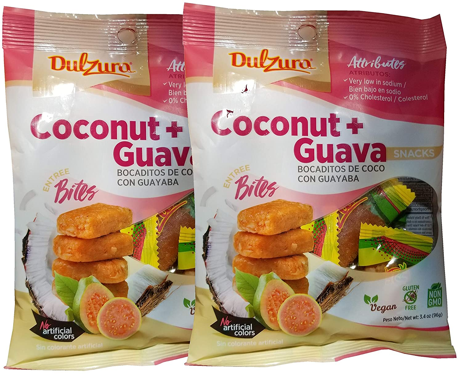 Dulzura Borincana Energy Bites Vegan Snacks Variety (Coconut Guava): Amazon.com: Grocery & Gourmet Food
