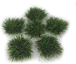 KuGuo Mini Plastic Artificial Weeds Tufts DIY Fake Grass 6 Clusters for Home Decoration