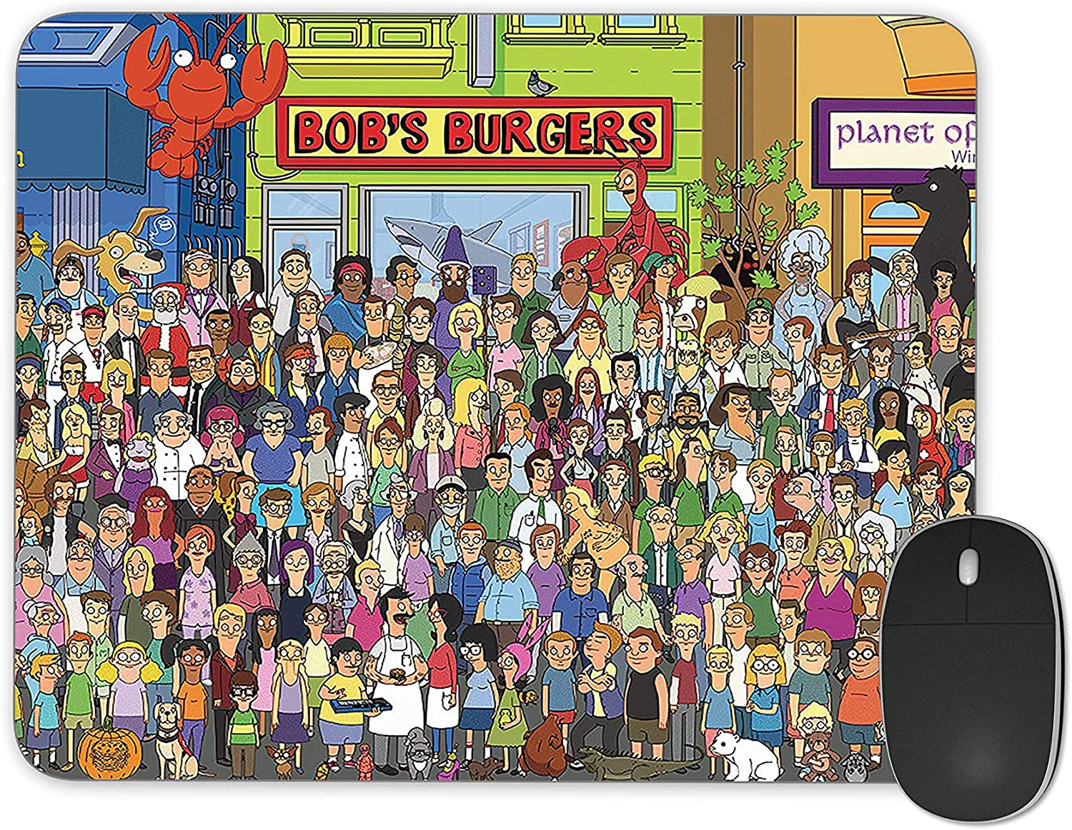 JNKPOAI Good-Looking Animation Series Anti - Slip Mouse Pad Bob's Burgers Anti-Slip Mouse Pad Office Computer Game Mouse Pad(Bob's Burgers)