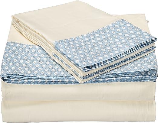 Echo Eco CERDEÑA Juego de sábanas, algodón, Blanco, Cama Individual: Amazon.es: Hogar