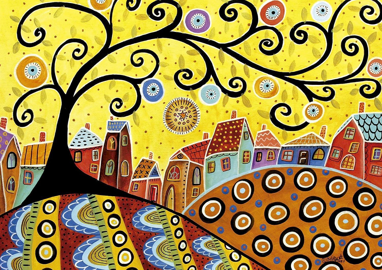 Puzzles Educa - Puzzle Blooming Village, Karla Gerard, 1000 piezas ...