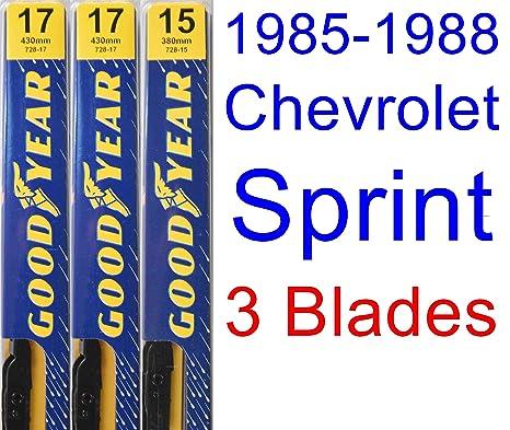 1985-1988 Chevrolet Sprint - Juego de limpiaparabrisas de repuesto (limpiaparabrisas Goodyear - Premium