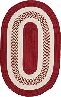 product image for Flowers Bay Oval Area Rug, 4 by 6-Feet, Red