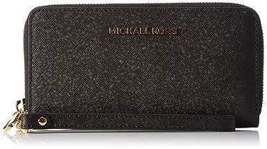 Michael Kors Travel Large Smartphone Wristlet - Borsa a Mano Donna, Nero (Black), 2.5x9.5x16.5 cm (B x H T)