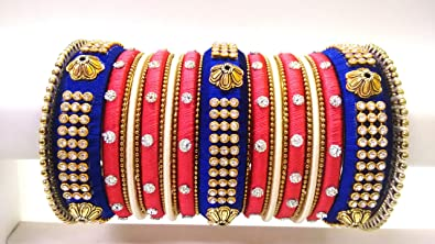 02345ff14f2 Image Unavailable. Image not available for. Colour: Blue and Pink Bangles