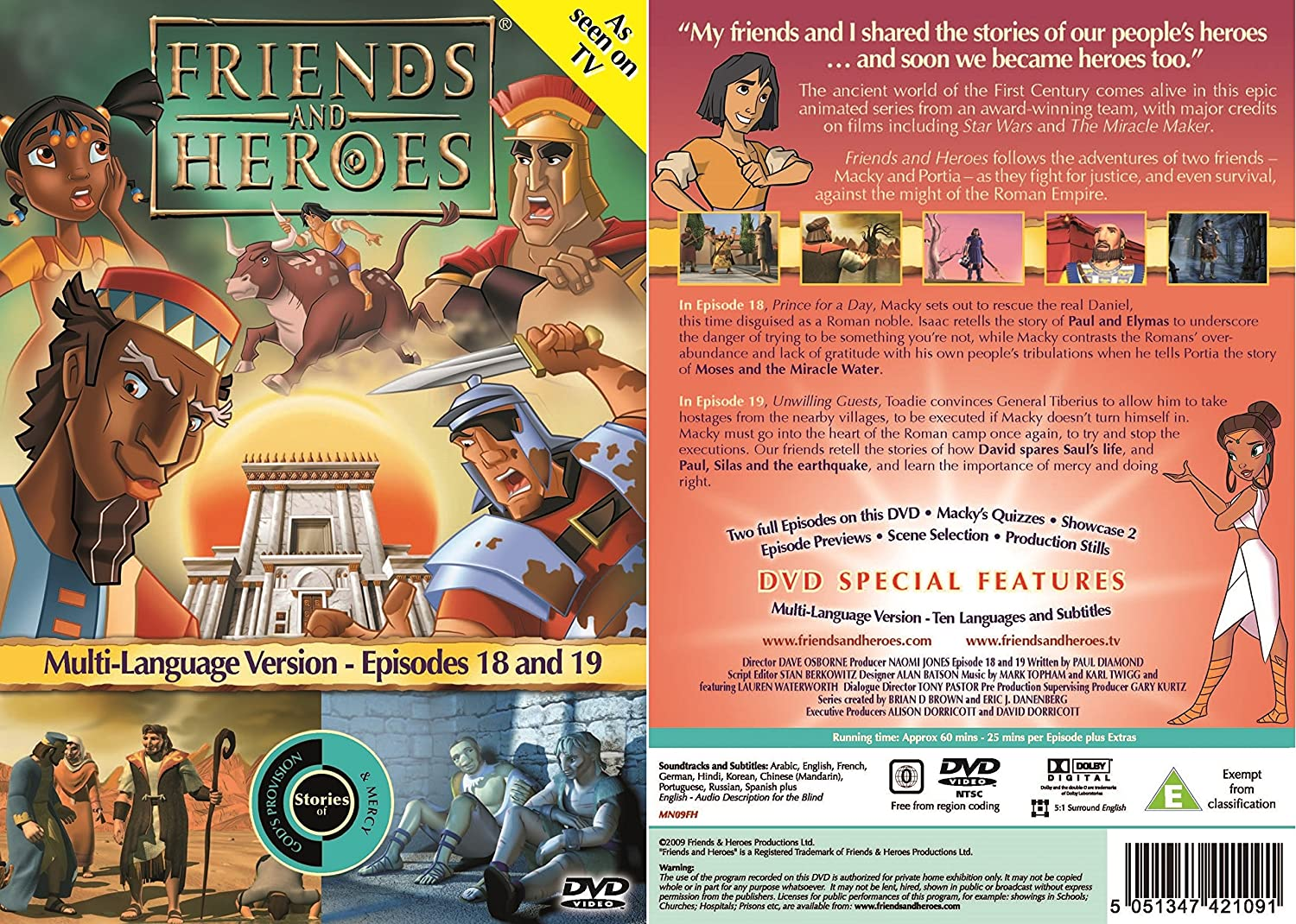 Amazon Friends And Heroes DVD Series 2 Pack Multi Language Includes Childrens Bible Stories Of Jesus Moses Jacob Noahs Ark Movies TV