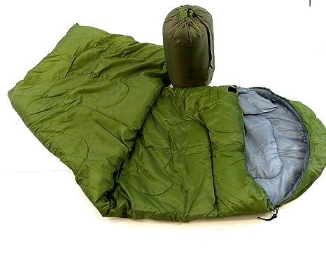 Saco de dormir verde impermeable resistente al agua para adultos colcha Camping senderismo