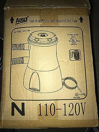 Amazon.com: Aqua Leisure sa-3766 portátil piscina filtro ...